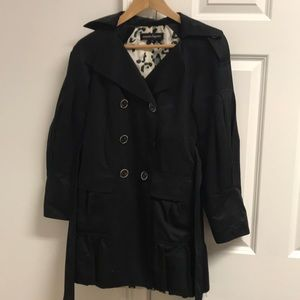 Vintage Nanette Lepore black trench coat